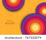 set of indian country ornament... | Shutterstock .eps vector #767333074