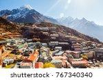 namche bazaar  himalaya  nepal | Shutterstock . vector #767340340