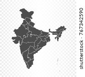 india map isolated on... | Shutterstock .eps vector #767342590