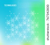 technologies concept in... | Shutterstock .eps vector #767342830