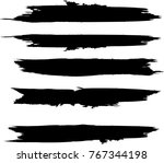 grunge paint stripe . vector... | Shutterstock .eps vector #767344198