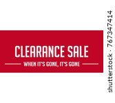 clearance sale discount | Shutterstock .eps vector #767347414