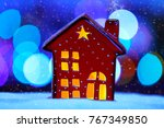 little decorative christmas... | Shutterstock . vector #767349850