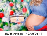 closeup photo of a tummy of... | Shutterstock . vector #767350594