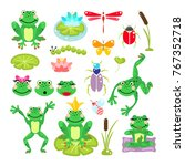 Frogs Cartoon Green Clip Art...