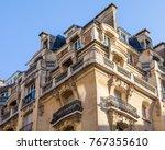 paris  france  on october 27 ... | Shutterstock . vector #767355610