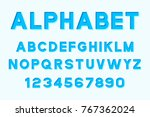 vector of modern font and... | Shutterstock .eps vector #767362024