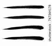 vector set of grunge brush... | Shutterstock .eps vector #767364178