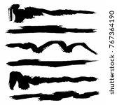 vector set of grunge brush... | Shutterstock .eps vector #767364190