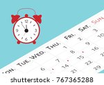 the calendar with the menstrual ... | Shutterstock .eps vector #767365288