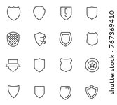shield icons set. vector linear ... | Shutterstock .eps vector #767369410