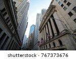 financial district of new york... | Shutterstock . vector #767373676