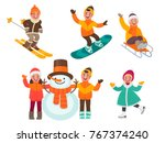 set of children's characters.... | Shutterstock .eps vector #767374240