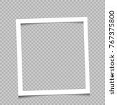 paper white square art frame... | Shutterstock .eps vector #767375800