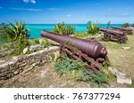 Old Cannons At Fort James In...