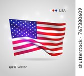 united states 3d style glowing... | Shutterstock .eps vector #767380609