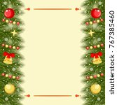 christmas greeting card with... | Shutterstock .eps vector #767385460