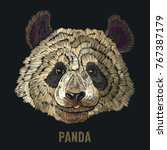 panda embroidery. fashion... | Shutterstock .eps vector #767387179