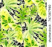 watercolor seamless pattern... | Shutterstock . vector #767387980