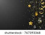 merry christmas new year vector ... | Shutterstock .eps vector #767393368