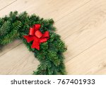 beautiful christmas garland...   Shutterstock . vector #767401933