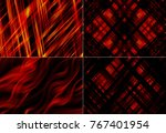 set of abstract dark red