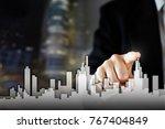 businessman activate growth... | Shutterstock . vector #767404849