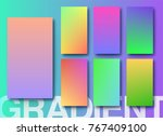 gradient color soft and smooth... | Shutterstock .eps vector #767409100