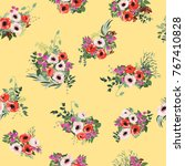 seamless pattern in small... | Shutterstock . vector #767410828