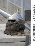 Small photo of Knight's Helmet with ring mail