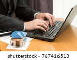 economists calculate the debt... | Shutterstock . vector #767416513
