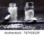 Glass Salt Shakers With Sea...