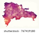 dominican republic watercolor... | Shutterstock . vector #767419180