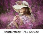 portrait of an adorable cute...   Shutterstock . vector #767420920
