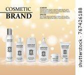 3d realistic cosmetic bottle...   Shutterstock .eps vector #767426188