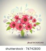 floral background vector eps10 | Shutterstock .eps vector #76742830