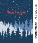merry christmas. a poster with... | Shutterstock .eps vector #767429218