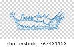 water splash. vector... | Shutterstock .eps vector #767431153
