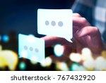 communication  dialog ... | Shutterstock . vector #767432920