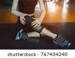 woman doing sport exercise...   Shutterstock . vector #767434240