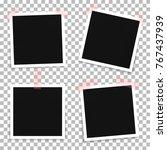 vector set of photo frame... | Shutterstock .eps vector #767437939