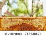 closeup portrait of beekeeper...   Shutterstock . vector #767438674