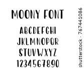 moony font   cute latin retro...   Shutterstock .eps vector #767441086
