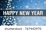greeting card with new year... | Shutterstock . vector #767442970