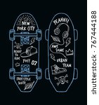 skateboarding t shirt design. ... | Shutterstock .eps vector #767444188