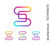 abstract letter s line monogram ... | Shutterstock .eps vector #767445670