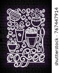 coffee house vintage poster... | Shutterstock .eps vector #767447914