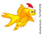 goldfish santa ready for... | Shutterstock .eps vector #767449198