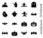 origami style icon set   zombie ... | Shutterstock .eps vector #767450128