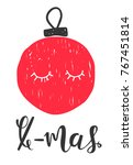 christmas holiday card | Shutterstock .eps vector #767451814